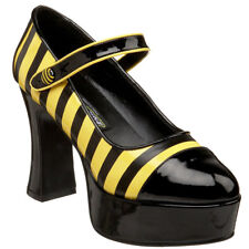 Funtasma Halloween Costume Shoe Chunky Heel Mary Jane Bumble Bee Platform Pumps