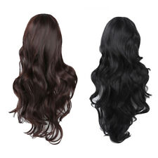 Top Quality Synthetic Hair Gorgeous Ladies Long Wavy Curly Full Wig - Black W6V1