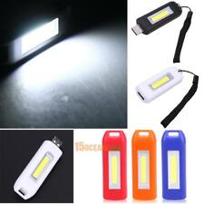 Mini Rechargeable Torch USB LED Light Outdoor Flashlight Lamp Pocket Keychain...