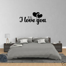 Wall Decal Quote PS I Love You Wall Art Decal Home Decor Famous Quotes PC385