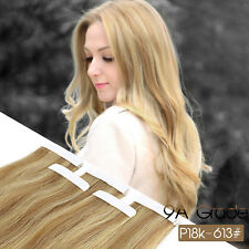 9A Neitsi 20'' Tape In Remy Human Hair Extension Straight Hair Pieces 10PCS 25g