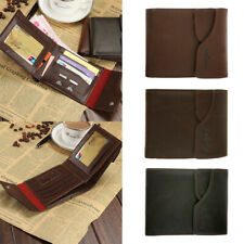 Slim Men Faux Leather Bifold Wallet Purse Business ID Credit Card Holder Gift