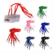 Pack of 10pcs Lanyards Neck Strap For ID Pass Card Badge Gym Key USB Holder