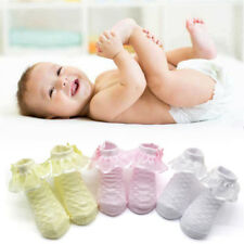 Cute Baby Girls Lace Ruffle Frilly Ankle Socks Sweet Princess Cotton Short Socks