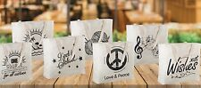 Reusable Canvas Bag with Printed Theme - Sturdy Shoulder Straps - Made in USA