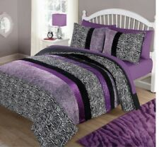 Zebra Animal Print Bedding Comforter Set Bed Reversible, Choose Size /Color