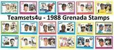 1988 Grenada Stamps Baseball Set ** Pick Your Team **