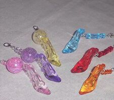 Stiletto High Heel Shoe Charm & Crystals Pull Chain Cell Phone Purse Accessory