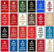 FRIDGE MAGNET - KEEP CALM AND (Various Designs) - Large Jumbo