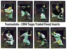 1994 Topps Traded Finest Inserts Baseball Set ** Pick Your Team **