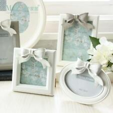 Resin Bow Knot Wall Hanging Wooden Frame White Picture Frames Wood Home Decor
