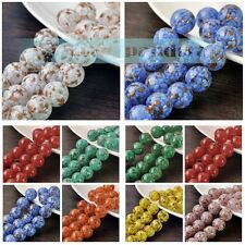 5/10/20pcs 14mm Lampwork Glass Crystal Jewelry Finding Loose Spacer Round Beads