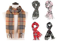 Cashmere Scarf Classic plaid Women Stripe Tartan Soft Feel Luxurious Winter Warm