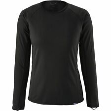 Women's PATAGONIA Capilene Midweight Crew Top BLACK Baselayer Shirt #44435 NEW