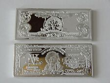1 TROY OZ 1899 SERIES $5 INDIAN CHIEF SILVER CERTIFICATE .999 SILVER/COPPER BAR
