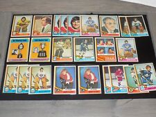 1974-1975 Topps Hockey NHL Lot of (24) with RC, Stars, HOFers Nice ExMt-NrMt Lot