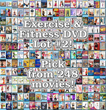 Exercise & Fitness DVD Lot #2: Pick Items to Bundle and Save!