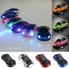 3D 1600DPI Car Shape 2.4G Wireless Optical Mouse Mice For Laptop PC USB Receiver