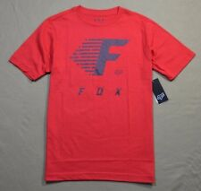NWT BOYS KIDS FOX RACING RED YOUTH FADE TO TRACK SHORT SLEEVE CREW T SHIRT M-XL