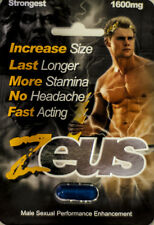 Zeus 1600mg Strongest Male Sexual Performance Enhancement Pill,Authentic 2 Pills