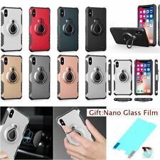 360 DEGREE RING STAND Hybrid ARMOR HEAVY DUTY Rugged Case Cover For Apple iPhone