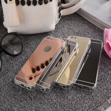 For Apple iPhone Models 5 6 6+ 7 Luxury Soft Ultra-thin Mirror Metal Case Cover