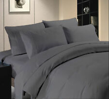 Hotel Collection Dark Grey Solid 1000 & 1500 TC Bedding Set Cotton All USA Size
