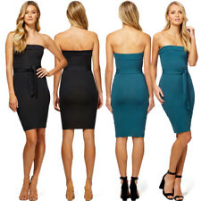 Women Fashion Chest Wrap Dress Sleeveless Solid Slimming Base Skirts Dress H6728