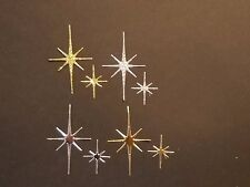 10 Star Die Cut: Gold or Silver Glitter Bethlehem Christmas supply Handmade Card