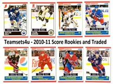 2010-11 Score Rookies and Traded Hockey Set ** Pick Your Team **