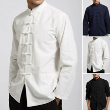 New Men Traditional Chinese Tang Suit Coat clothing Kung Fu Tai Chi Uniform Plus