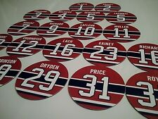 Montreal Canadiens Magnets - Jersey design - Select a player - Canadiens Legends