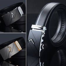 Men Genuine Belt Luxury Genuine Leather Automatic Buckle Waistband Strap E0092