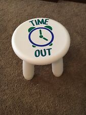 NEW - Time Out Chair/Stool - White- Decorated w/Vinyl