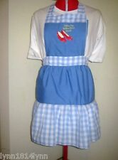 GIRLS/LADIES CUSTOMISED WIZARD OF OZ COSTUME CHARACTER APRON MADE 2 ORDER