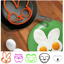 Non-stick Silicone Skull Frog Egg Fried Frying Mould Breakfast Pancake Mold Ring