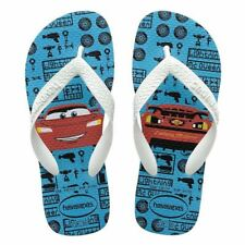 Havaianas Kids Cars Turquoise White Children Flip Flops Sandal all Size
