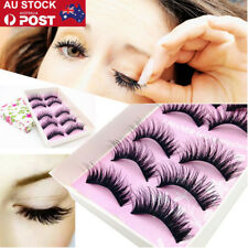 5/10/25/50 Pairs Women Natural Eye Lashes Makeup Thick Fake Cross False Eyelash
