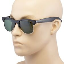 Polarized Retro Sunglasses Men Women Vintage Designer Metal Half Frame T1