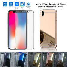 US stock Apple iPhone X  Mirror Tempered Glass Front Back Screen Protector Film