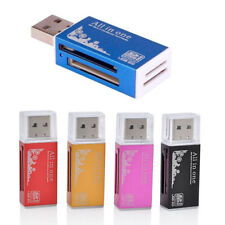 5 Colors All in 1 USB 2.0 Memory Card Reader For Micro SD SDHC TF M2 MMC PRO DUO