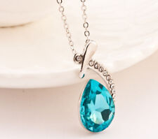 2016 Fashion Pendant Jewelry Drop Women Necklace Silver Crystal NEW Rhinestone