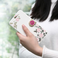 Womens Ladies Flip Flower Butterfly Print Magnetic Girl Case Cover For iPhone  T