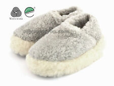 MEN'S House Loafer Slippers 100% Sheep's Wool Lambswool Winter Warm Socks Shoes