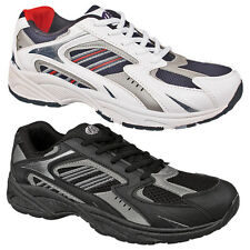 Mens Boys New Black White Sports Gym Lace Up Trainers 3 4 5 6 7 8 9 10 11 12 13