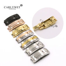 9mm x 9mm New Glide Lock Clasp Buckle for Brand Leather Rubber Steel Watch Band