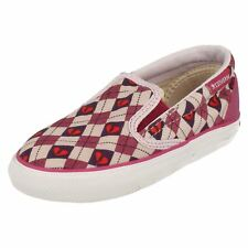 Girls INFT SKID GRIP Heart Pattern Pink/Purple Slip On Canvas By Converse
