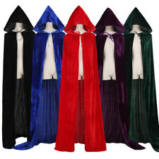 Medieval Renaissance Witchcraft Cloak Cape Gothic Hooded Velvet Cloak Wicca Robe