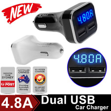 4.8A Dual USB Car Charger Adapter LCD for iPhone Samsung LG HTC Nexus iPad LOT F