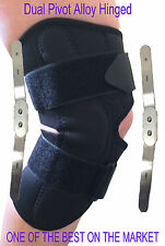 Knee Brace Hinged Neoprene Support Guard With Stabilizer Strap  natural gliding